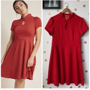 NWOT ModCloth Keyhole Fit And Flare Dress